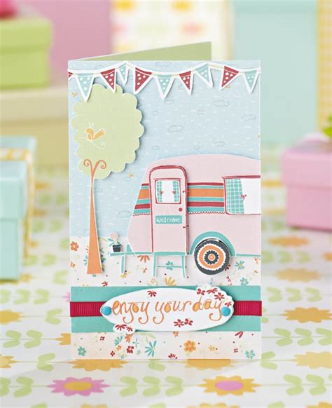 Paper Craft Inspirations - your free retro caravan printables by hocking