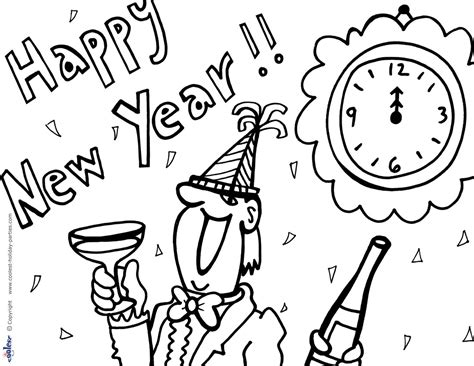 Free New Year S Coloring Pages Free New Years Coloring Pages