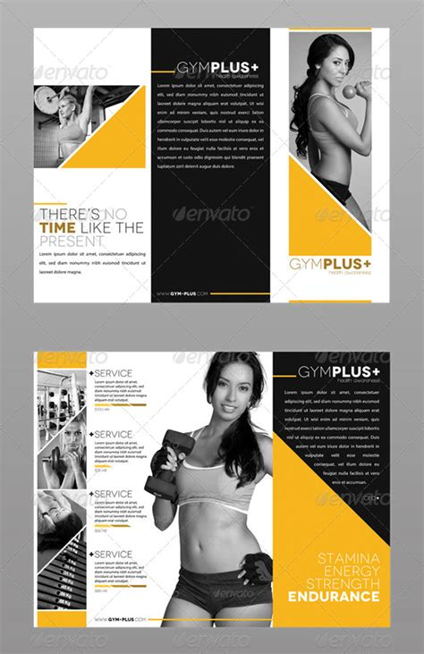 Fitness Brochure Design by 20 Tri Fold Information Brochure Templates