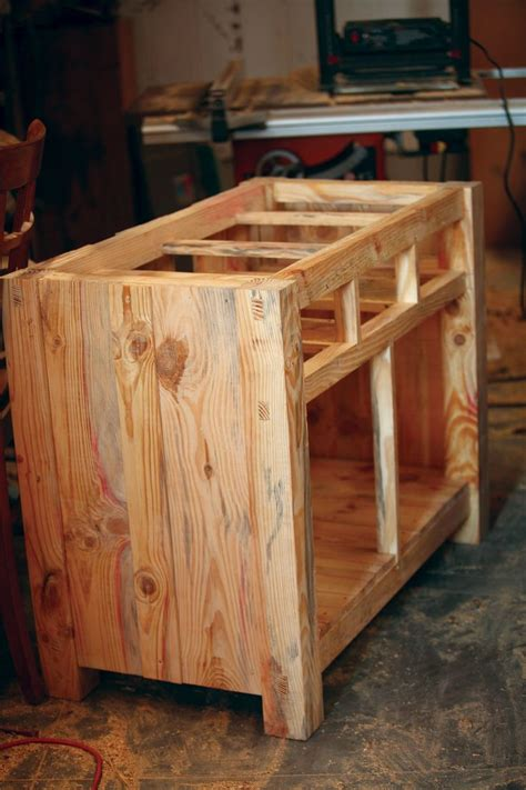 homemade kitchen island homemade kitchen island carcass kitchen pinterest
