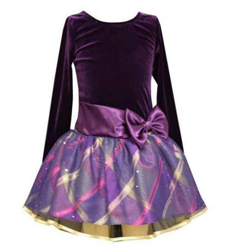 Bonnie Jean - bonnie jean big purple velour sash dress