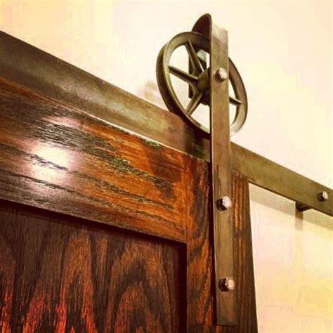 Sliding Barn Door Wheels 6 Quot Wheel Rustic Sliding Barn Door Hardware Set Steel Industrial Vintage Single Door Black