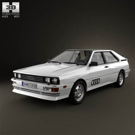 Audi Quattro 1980 3D model for Download in various formats