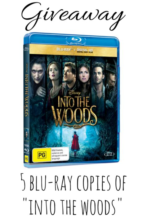 Blu Ray Giveaway - disney into the woods movie blu ray giveaway adventure baby