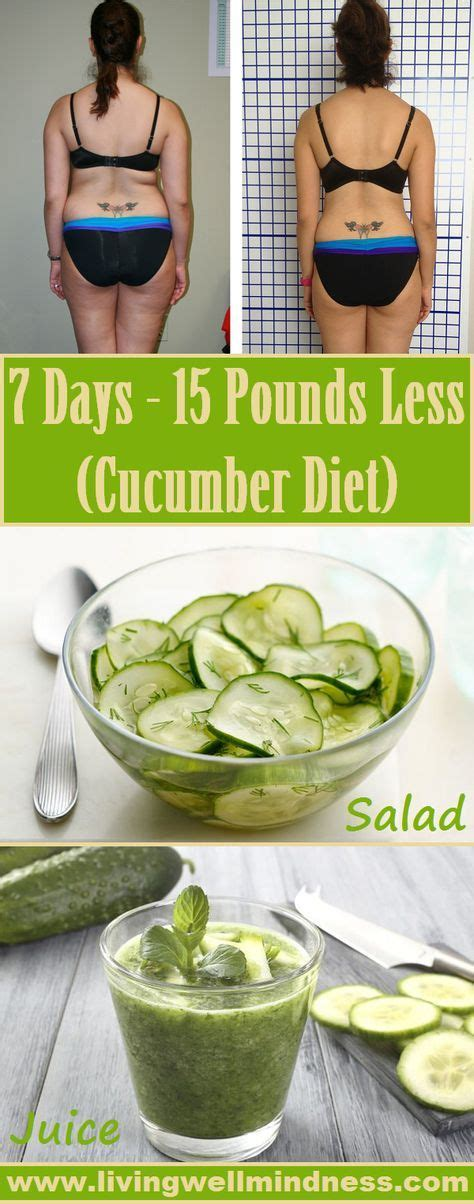 Cucumber Detox Diet by 7 Days 15 Pounds Less Cucumber Diet Diet
