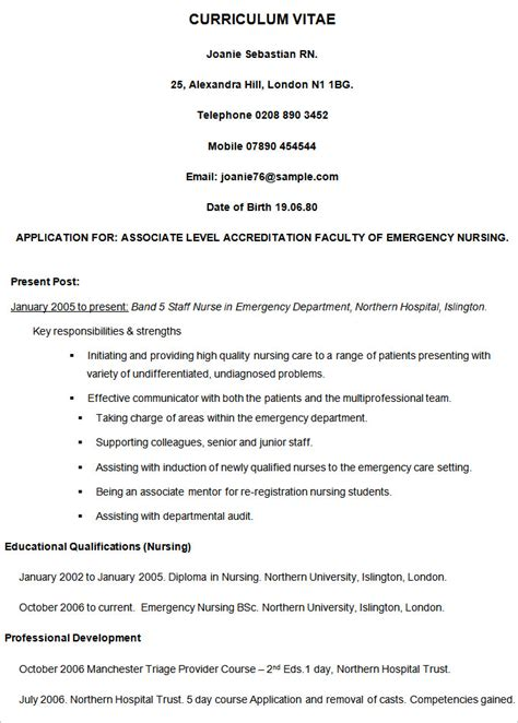 cv templates for year 11 cv templates 61 free sles exles format download