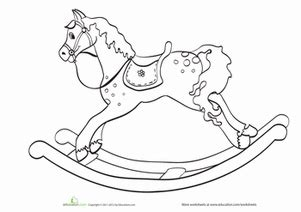 coloring pages of rocking horses coloring pages printables education