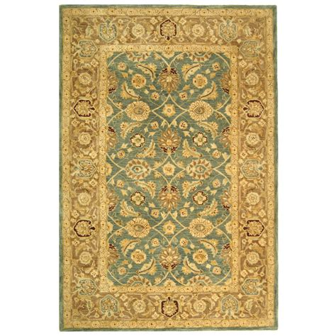 teal rug 8x10 safavieh handmade anatolia legacy teal blue taupe wool