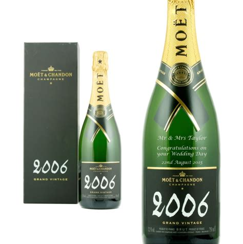 personalised moet chandon brut imperial vintage