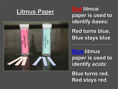 Bases Make Litmus Paper Turn - tour of the lab and lab equipment ppt