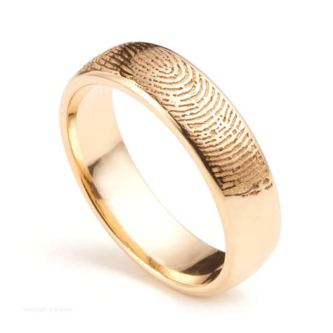 18ct gold fingerprint wedding ring