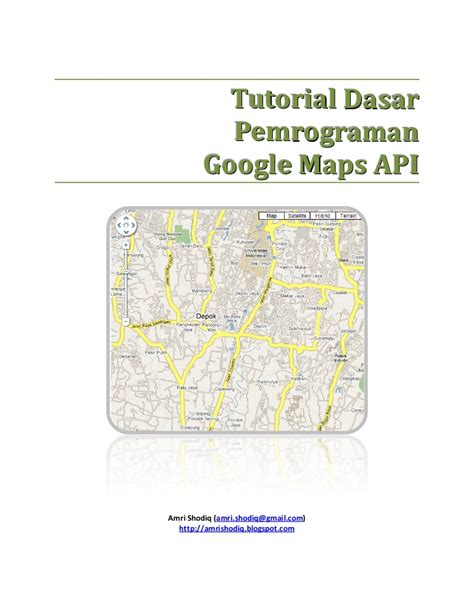 tutorial powerpoint dasar tutorial dasar pemrograman google maps api