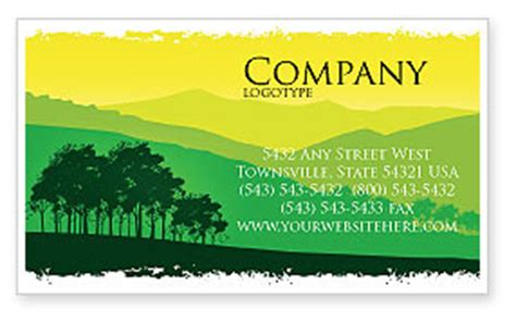 landscape card template mountain landscape business card template layout