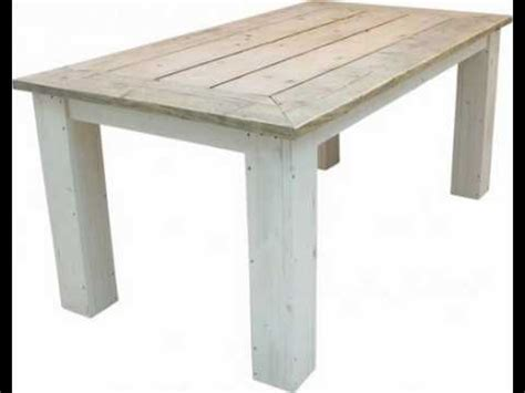 tafel in hout maken houten tafel maken tafel van steigerhout check de