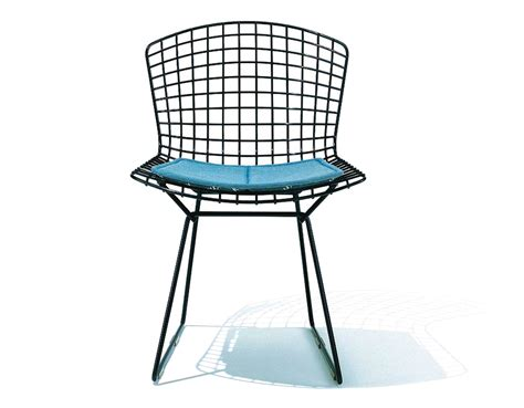 Bertoia Chair by Bertoia Side Chair With Seat Cushion Hivemodern