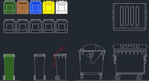 Cad Kitchen Design Software by Garbage Bin Cad Blocks Free Cad Blocks And Cad Drawing