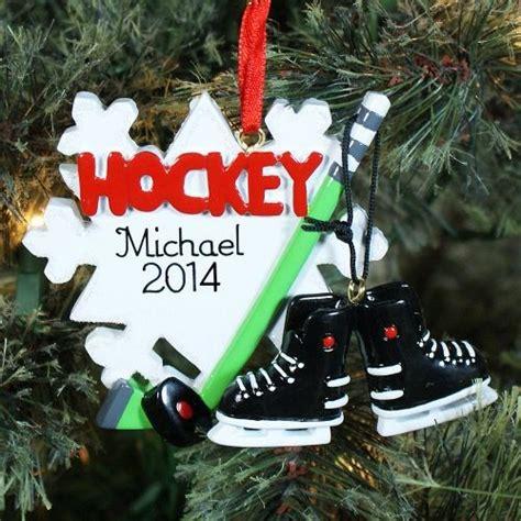 personalized hockey ornament hockey player ornament