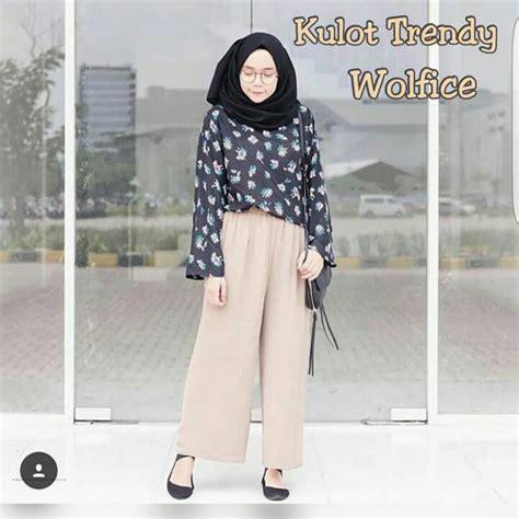 Busana Gaun Trendy grosir baju muslim kulot trendy mocca grosir baju