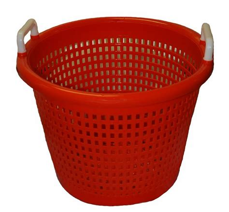 Specialty Kitchen Knives orange plastic baskets