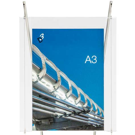 Acrylic A3 a3 acrylic poster holder with a4 a5 dl leaflet holders