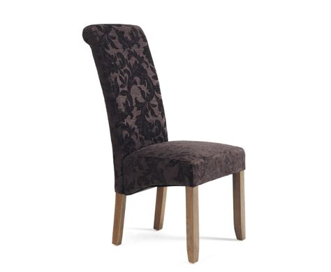 Aubergine Dining Chairs Haycroft Aubergine Floral And Walnut Dining Chairs Frances