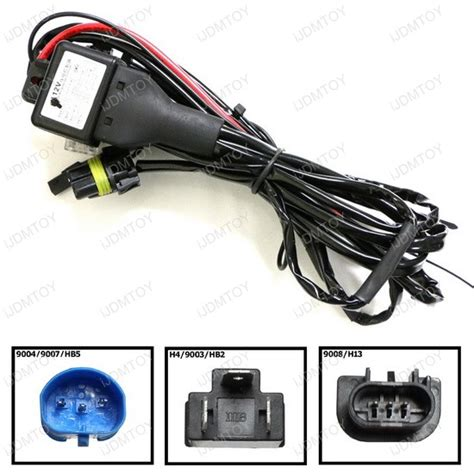 hid conversion kit bi xenon relay wiring harness for h13 9004