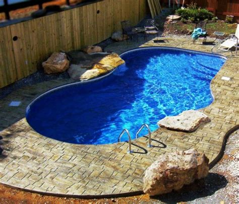 small pools designs semi inground pool designs