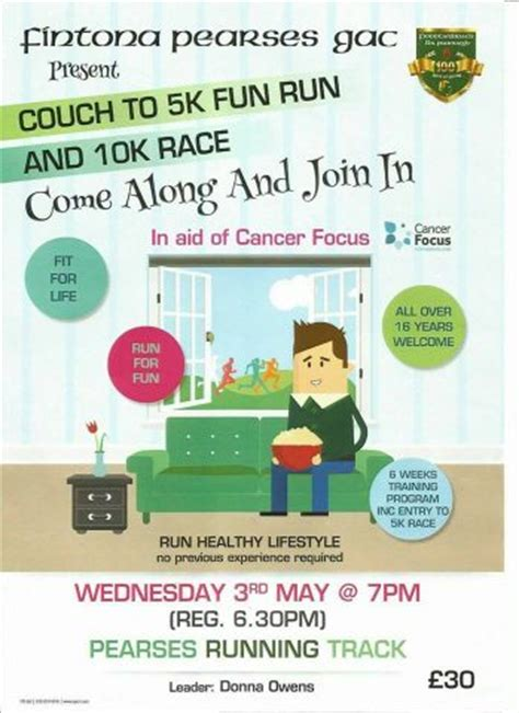 couch to five k fintona 10k 5k saturday 17th june with couch to 5k