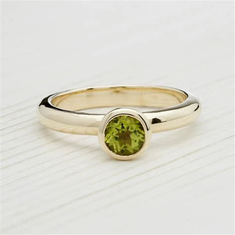 solid gold august birthstone peridot ring by alison