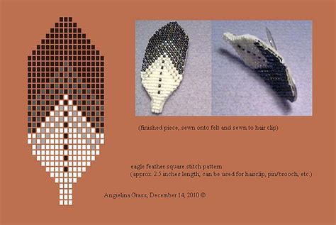 how to bead an eagle feather eagle feather beadwork pattern finished beaded hairclip
