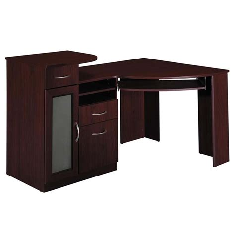 Cherry Corner Desk Corner Desk Office Cherry Computer Desk Bush Furniture Vantage W Cpustorage Ebay