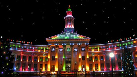 building decorated for christmas wallpapers and images