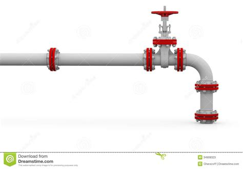 White Plumbing Pipe by White Pipe And Valve Stock Illustration Image Of Conduit