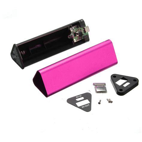 Kotak Power Bank 1x 18650 Kit Micro Usb Powerbank Casing diy 2000mah 18650 battery usb power bank kit box for