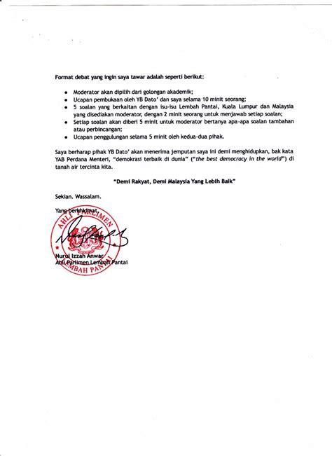 surat jemputan berdebat kepada dato raja nong chik