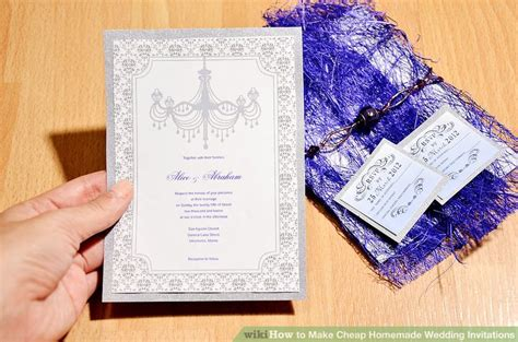 Cheap Wedding Invitations Tips by 3 Ways To Make Cheap Wedding Invitations Wikihow