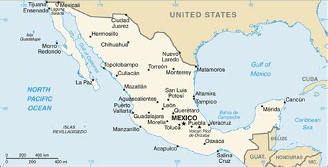 map of major cities in mexico list of cities in mexico