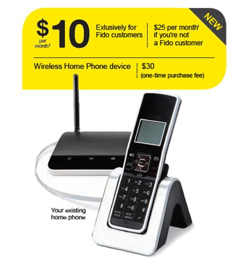 fido home phone plans for 10 month existing customers