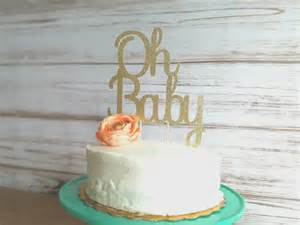 oh baby cake topper baby shower cake topper baby shower