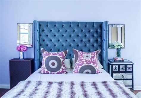 bedroom song gray velvet tufted headboard contemporary bedroom