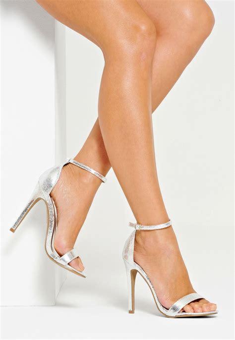 single high heels classic single heels silver strappy heels
