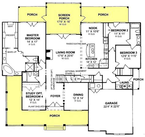 Farmhouse Floorplans by 655900 3 Bedroom 3 Bath Country Farmhouse With Open