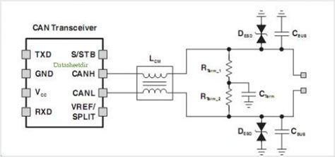 common mode choke application kondensatoren an mcp2551 mikrocontroller net