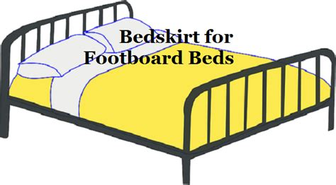 Bedskirt For Bed With Footboard by How To Use A Bedskirt With A Footboard Linens N Curtains