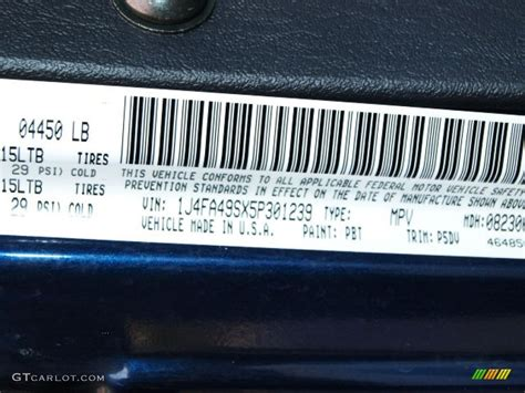 patriot blue paint 2005 wrangler color code pbt for patriot blue pearl photo