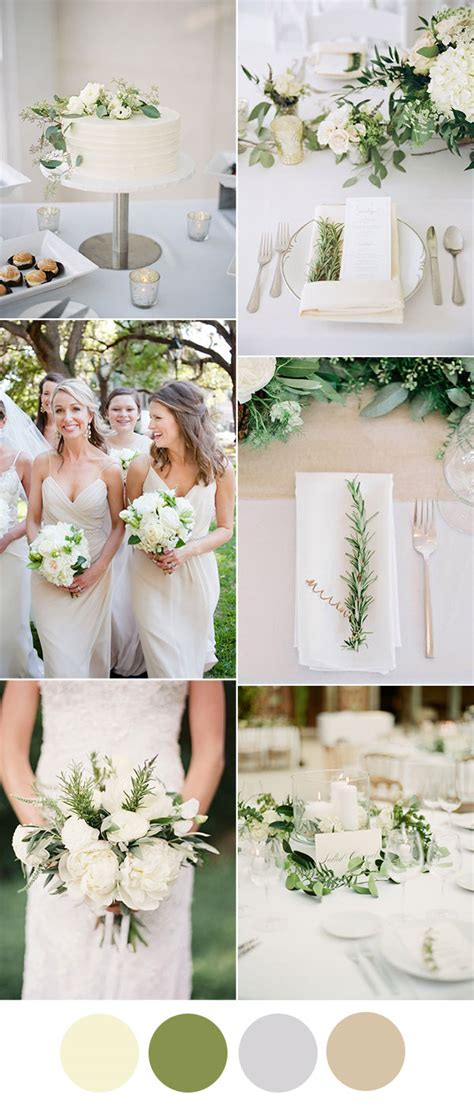 easy diy greenery minimalism wedding ideas with color combos stylish wedd