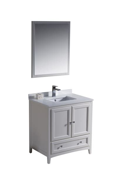 White 30 Inch Bathroom Vanity 30 Inch Single Sink Bathroom Vanity In Antique White Uvfvn2030aw30