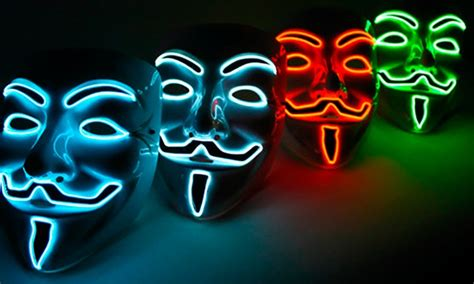 Light Up Mask by Light Up Fawkes Mask Groupon Goods
