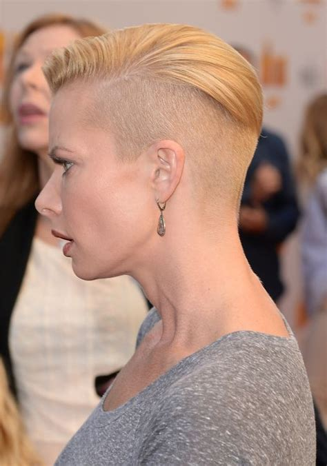 ladies contour haircut and the latest celebrity to half shave her head is