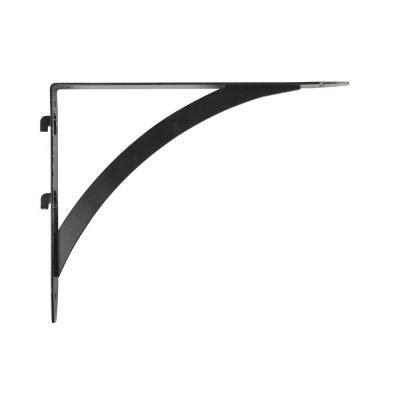 Shelf Track Bracket by Everbilt 10 25 In X 7 7 In Black Dual Track